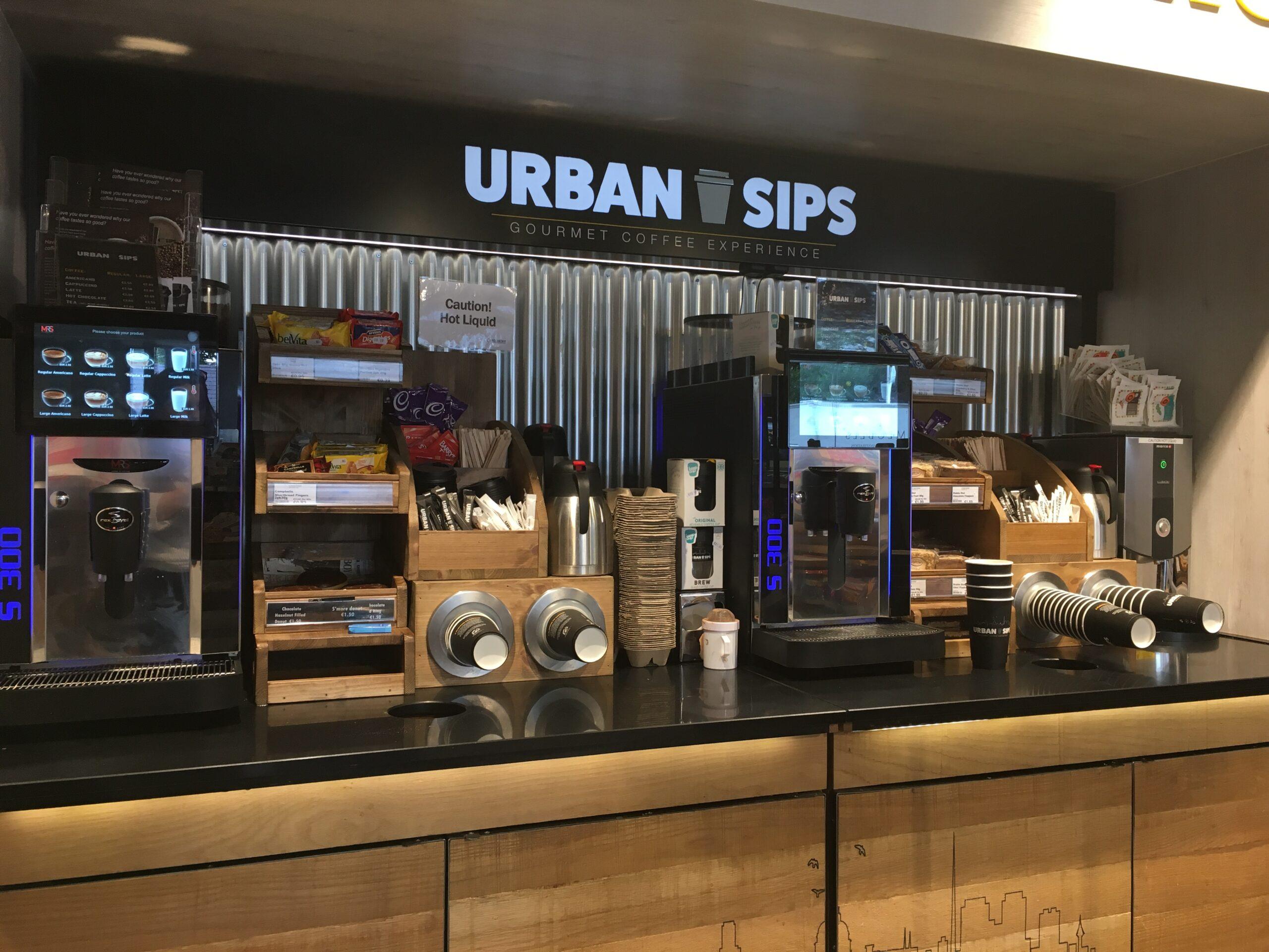 Urban Sips Coffee Dock in store shot
